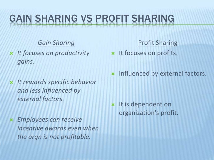 profit sharing formula