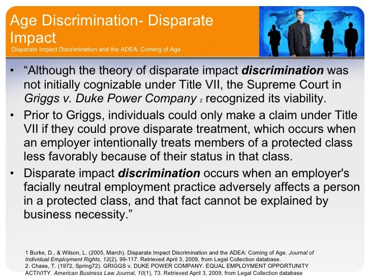 Disparate impact theory of title vii sexual harassment