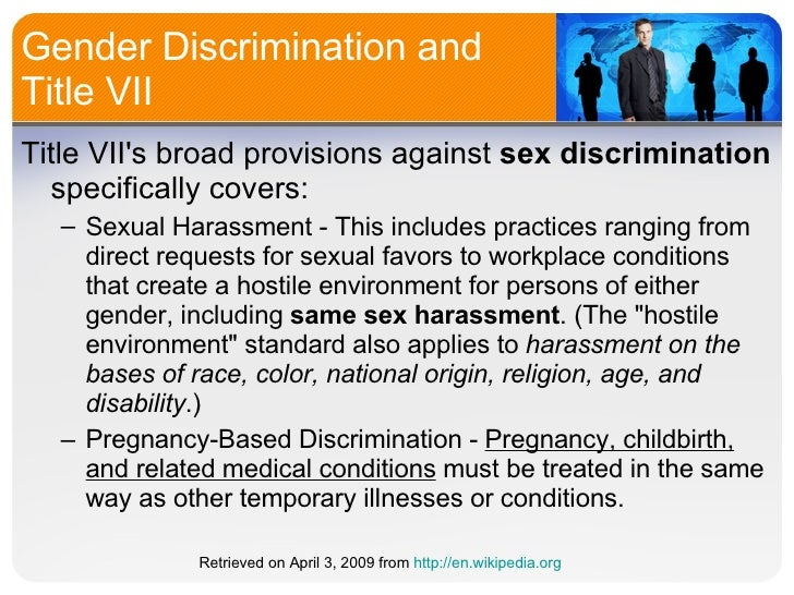 Title vii sex discrimination