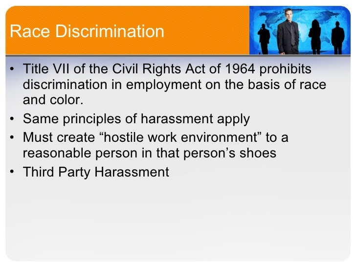 Implications Of Title Vii Of The Civil Rights Act Of 1964 ...