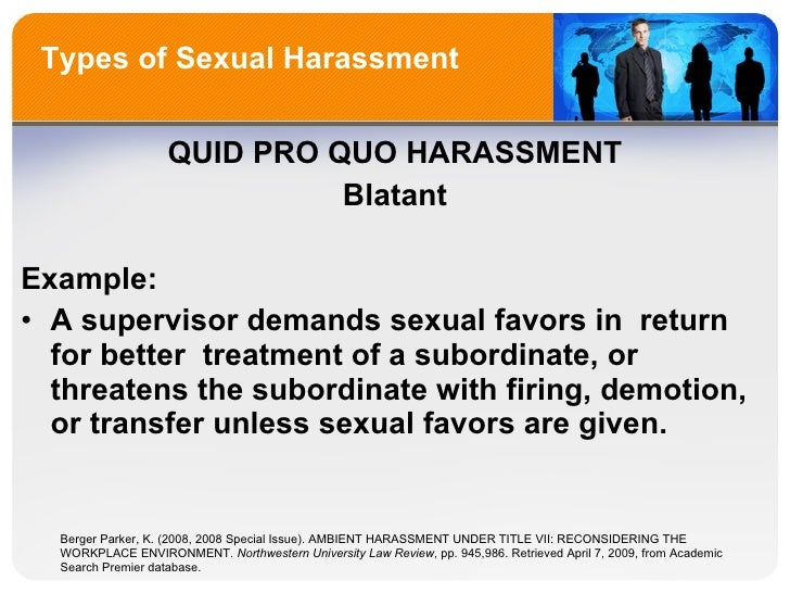 Sexual harassment law title vii protected
