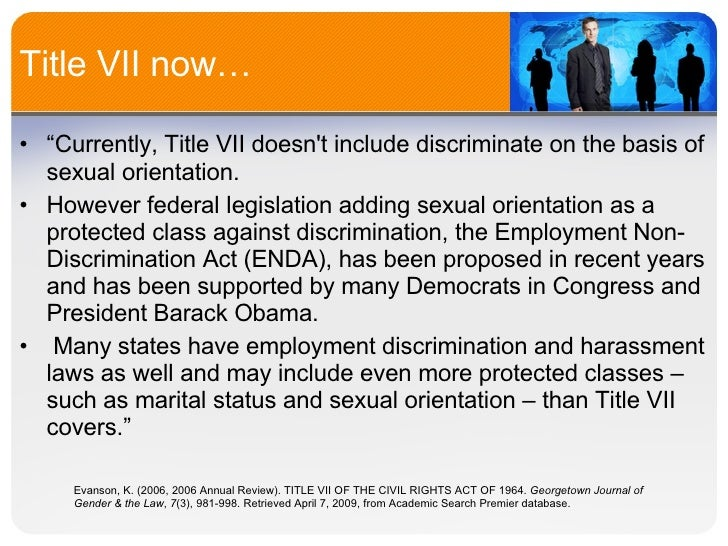 title vii the civil rights act Education, to extend the commission on civil rights, to prevent discrimination suant to title iii of the civil-rights act of 1960 (42 usc 1974-74e.