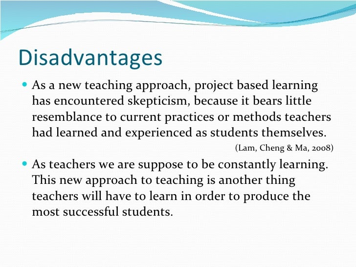 project based learning method Project-based learning is a teaching method in which students gain knowledge and skills by working for an extended period of time to investigate and respond to a complex question, problem, or challenge.