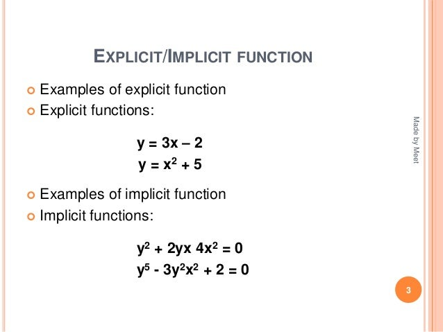 implicit function and total derivative
