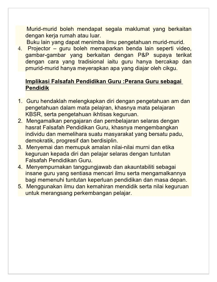 falsafah pendidikan Falsafah pendidikan negara pendidikan di malaysia adalah suatu usaha  berterusan ke arah memperkembangkan lagi potensi individu.