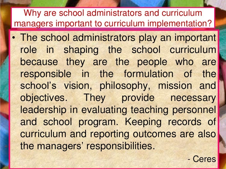 importance of stakeholders in curriculum implementation