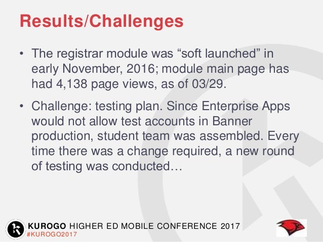Kurogo Higher Ed Mobile Conference 2017: Empower Your