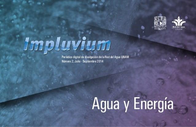 Agua y Energía  Periódico digital de divulgación de la Red del Agua UNAM  Número 2, Julio - Septiembre 2014