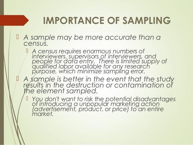 reasons for sampling in research