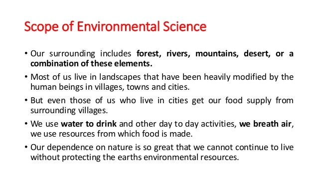 Importance Of Environmental Science Essay On The Importance Of  Importance Of Environmental Science