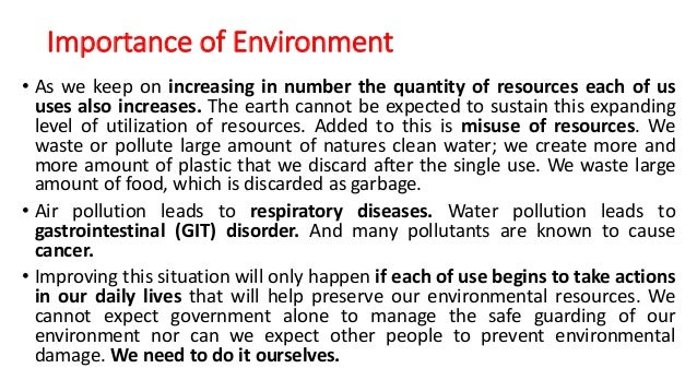 importance of environmental science