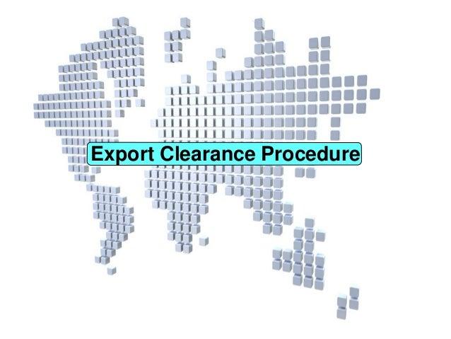 Export Clearance Procedure