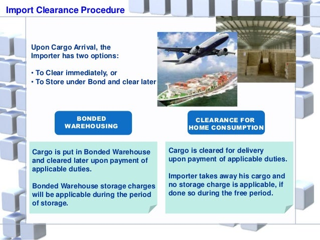 Import export custom clearance process