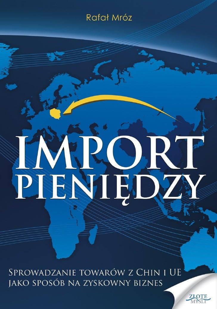 """Niniejszy darmowy ebook zawiera fragment                  pełnej wersji pod tytułem:                           """"Import pie..."""