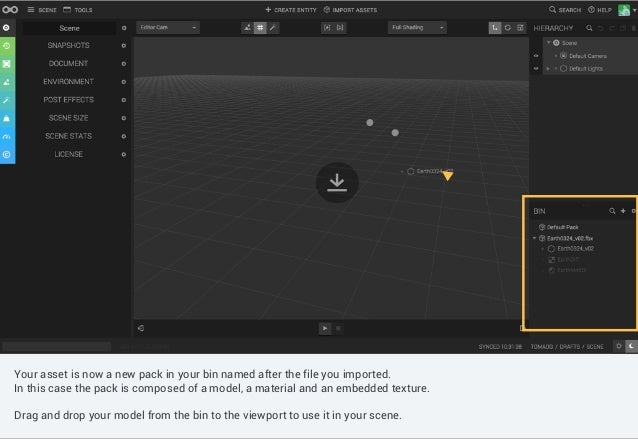 Controls such as shading mode, gizmo switch, camera selection can be found in the canvas menu. Your asset is now a new pac...