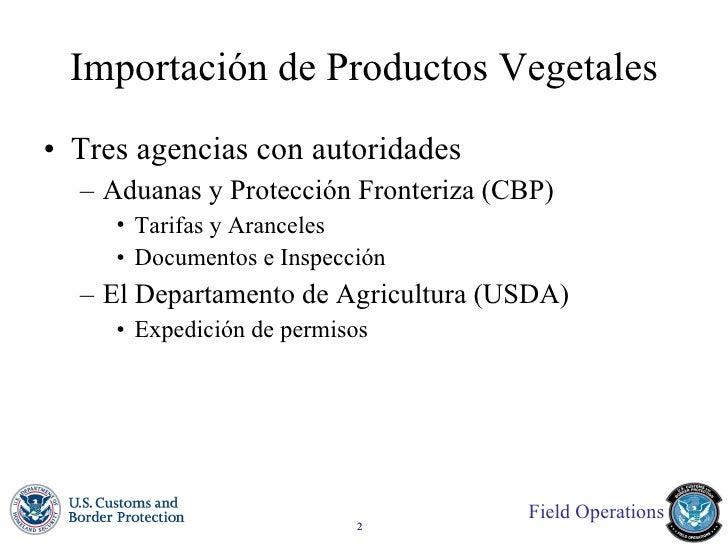 Importaciones agrícolas Slide 2