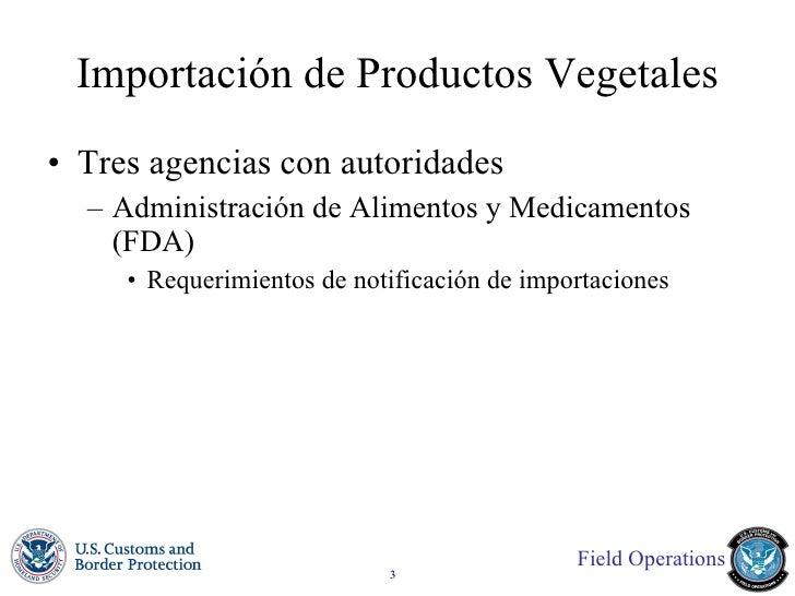 Importaciones agrícolas Slide 3