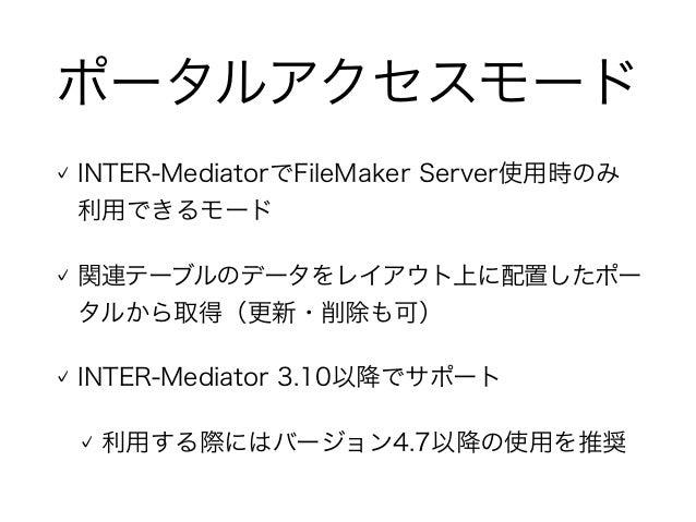 INTER-Mediatorのポータルアクセスモード Slide 3