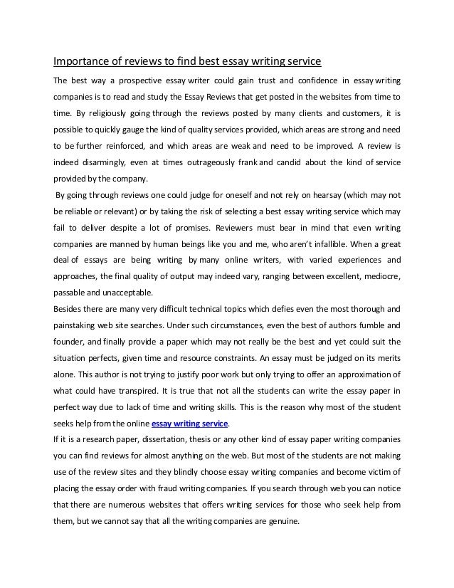 Essay Writing Format For High School Students Importance Of Reviews To Find Best Essay Writing Service The Best Way A  Prospective Essay Writer  Essay Proposal Sample also Apa Essay Papers Importance Of Reviews To Find Best Essay Writing Service What Is The Thesis In An Essay