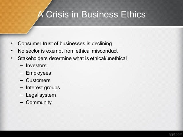 role of ethics in business Define what global business ethics are the role of ethics in management practices, particularly those practices involving human resources and employment.