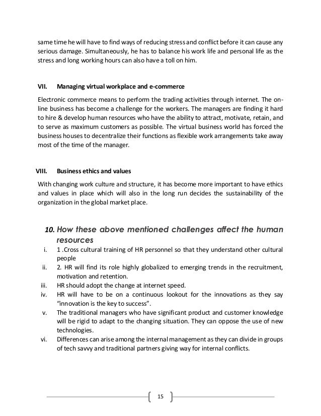 stress management in human resource management pdf