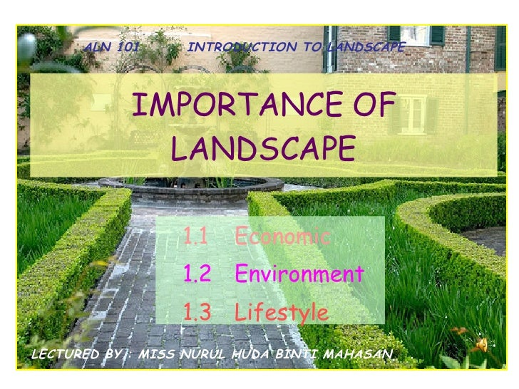 importance of landscape