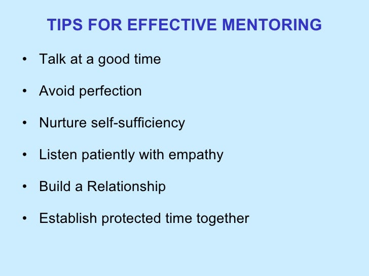 importance of mentoring Make sure everyone knows participation is voluntary, but at the same time stress  the importance of mentoring on career success and also the.