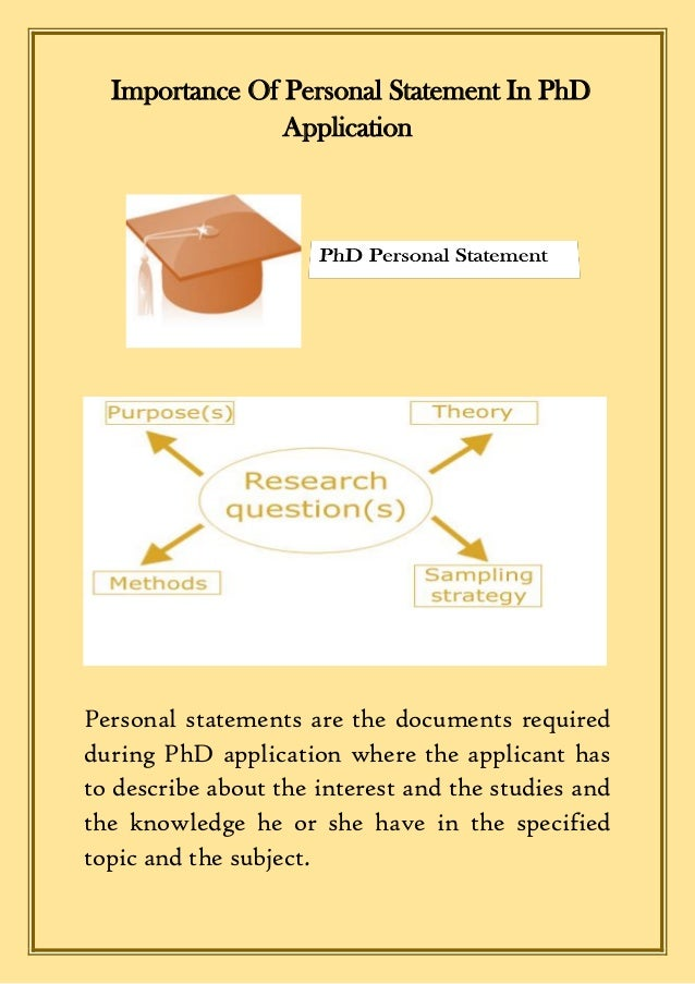 personal statement phd
