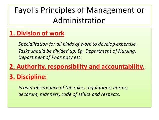 importance of management functions and principles 5 functions of management:  henri fayol also identified 14 general principles of management and organizing,  a short description of the five functions is.