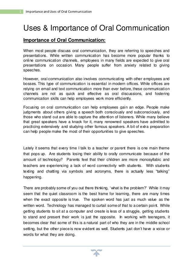 Importance Of Oral Presentation 13