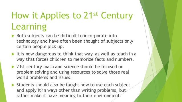 importance in 21st century education math and science
