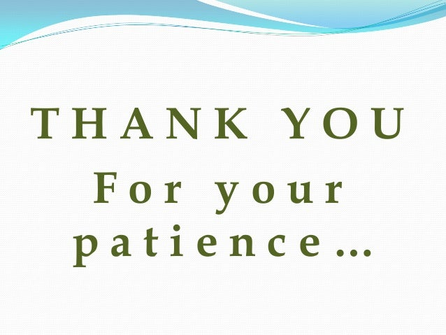 Image result for thank you for your patience