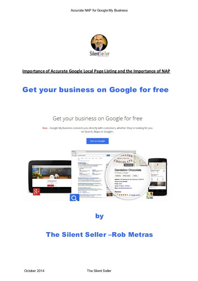 Accurate NAP for Google My Business  Importance  of  Accurate  Google  Local  Page  Listing  and  the  Importance  of  NAP...