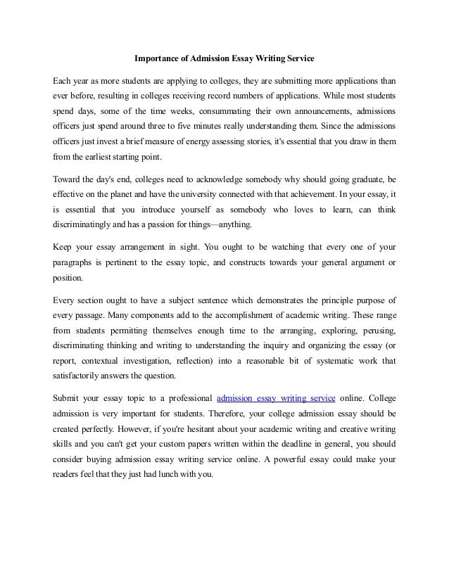 Admission essay custom write