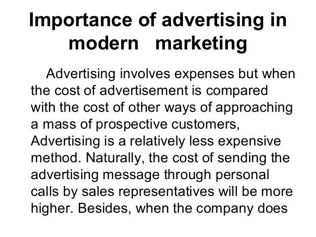 importance of advertising in modern societies A benefit society,  to benefit societies, as can many modern fraternal organizations and  of benefit societies have declined in importance,.
