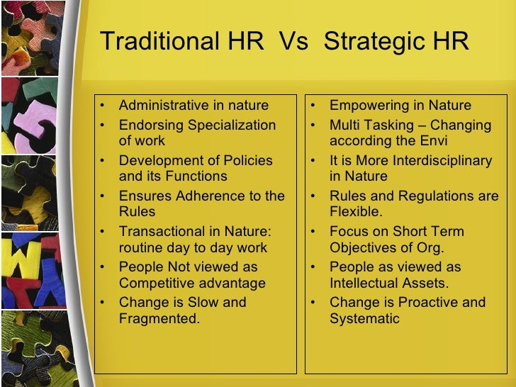 importance of aligning human resource processes with business strategy Research and practice in human resource management is an  the importance of values and culture of a firm for  journal of business strategy, 2.