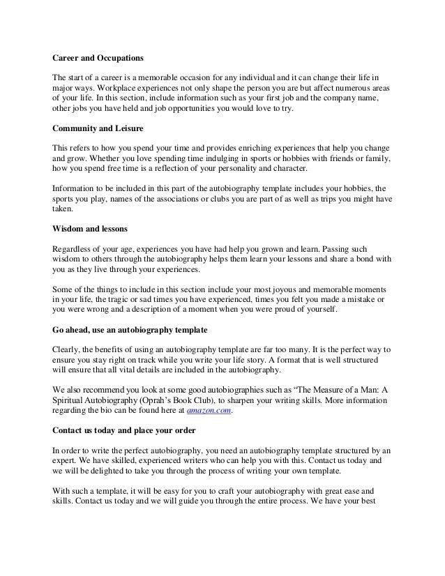 writing your life story template - Vatoz.atozdevelopment.co