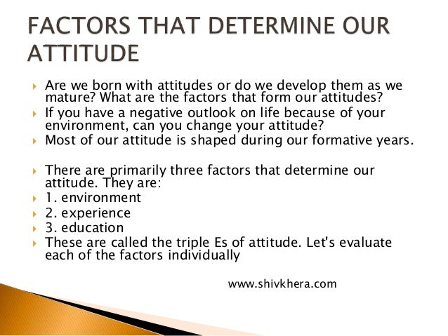 attitude meaning and importance