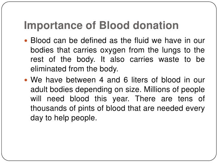importance of blood donation importance of blood donation