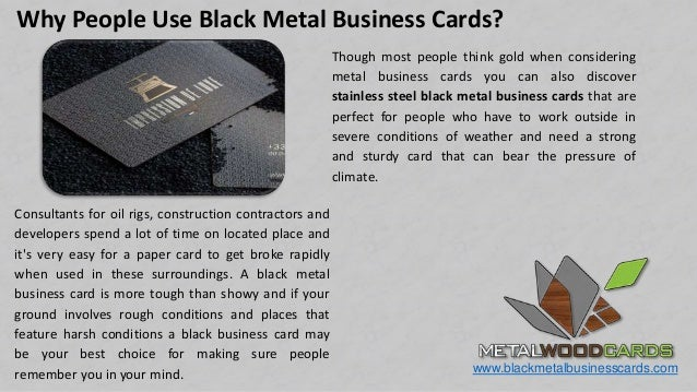 Importance of metal business cards in any business metal card blackmetalbusinesscards 7 reheart Images