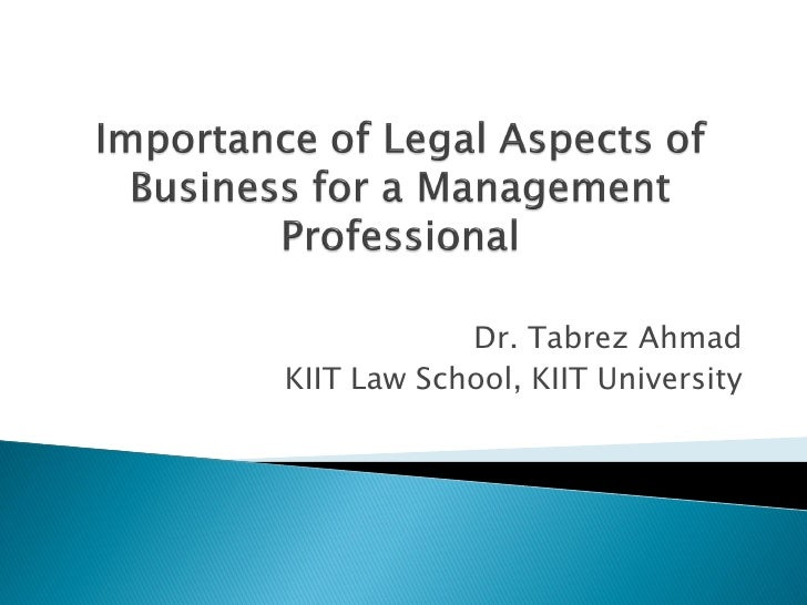 Dr. Tabrez Ahmad KIIT Law School, KIIT University