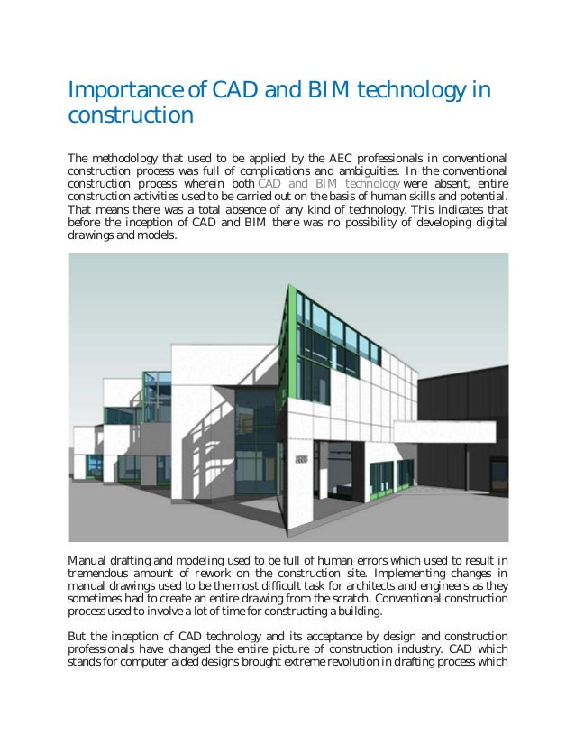 significance of neno technology in construction Abstract— nanotechnology is one of the most active research areas that encompass a number of disciplines including civil engineering and construction materials traditionally, nanotechnology has been concerned with developments in the fields of microelectronics, medicine and materials sciences .