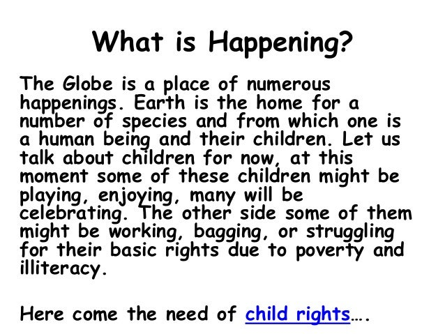 Importance of Child Rights Slide 2