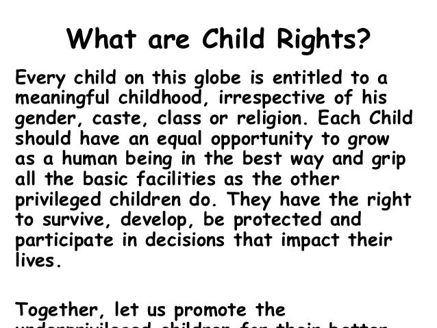 Importance of Child Rights