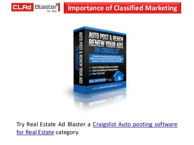 Importance of Classified Marketing in present day Internet