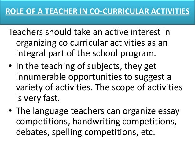 Benefits Of Co Curricular Activities Essay Sample