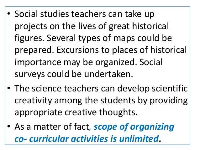 types of co curricular activities in school