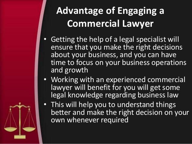 Importance of commercial lawyers in a start up business