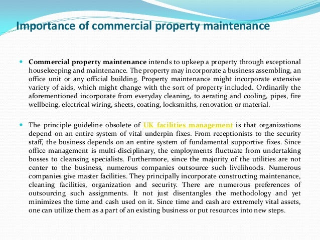 Commercial Property Maintenance : Importance of commercial property maintenance
