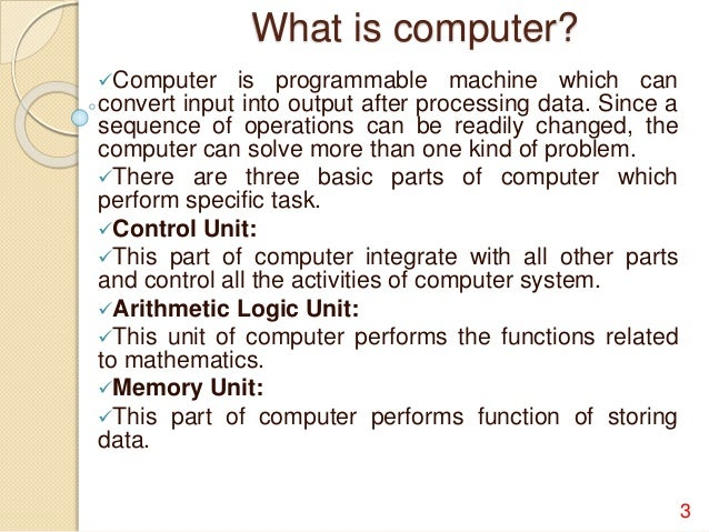 essay on computer and its importance Free essay on the importance of computers in colleges available totally free at echeatcom, the largest free essay community new to  from their home computer .
